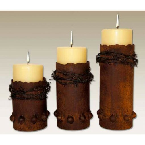 Barbed Wire Candle Holders