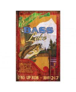 Bass Lake Vintage Sign Custom Sign