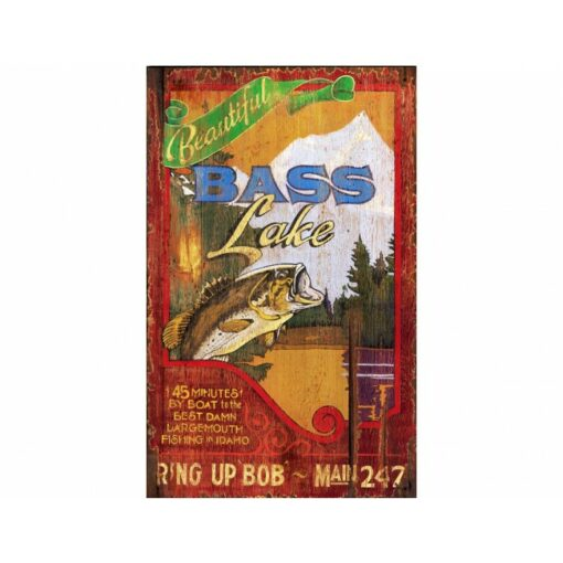 Bass Lake Vintage Sign Custom Sign