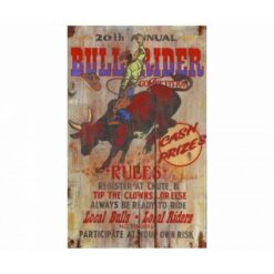 Bull Rider Vintage Sign - Personalized