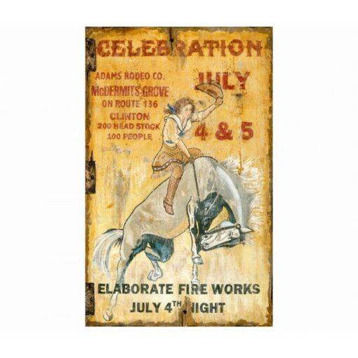 Custom Celebration Vintage Cabin Sign