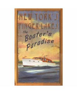 Personalized Boaters Paradise Vintage Sign