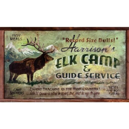 Elk Camp Custom Vintage Sign