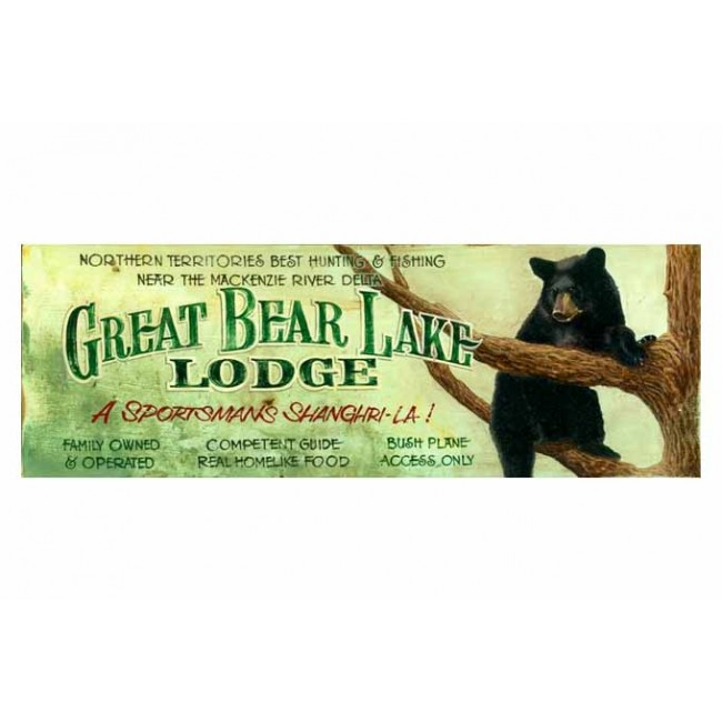 Bear Lake Vintage Sign Custom Vintage Cabin Signs