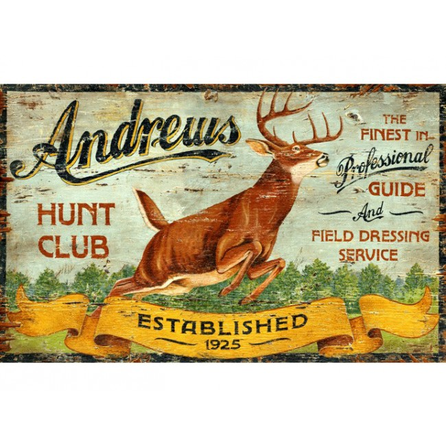 Custom Hunting Vintage Sign