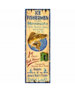Ice Fishing Vintage Sign