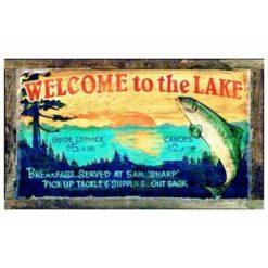 Lake Lodge Sign Custom