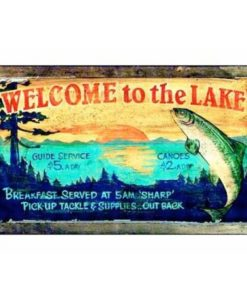 Lake Lodge Sign Custom