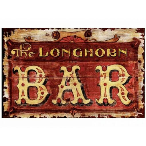 Longhorn Custom Vintage Sign