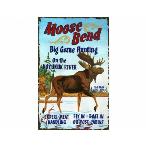 Moose Bend Custom Vintage Sign