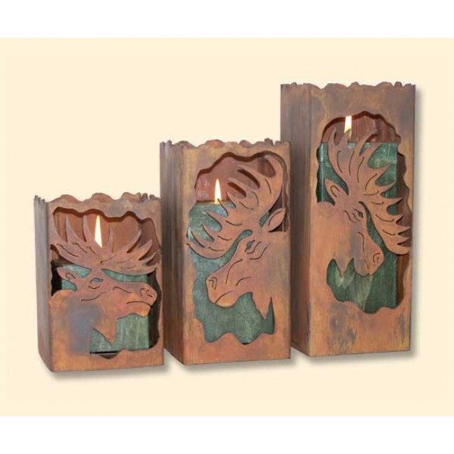 Moose Candle Holders
