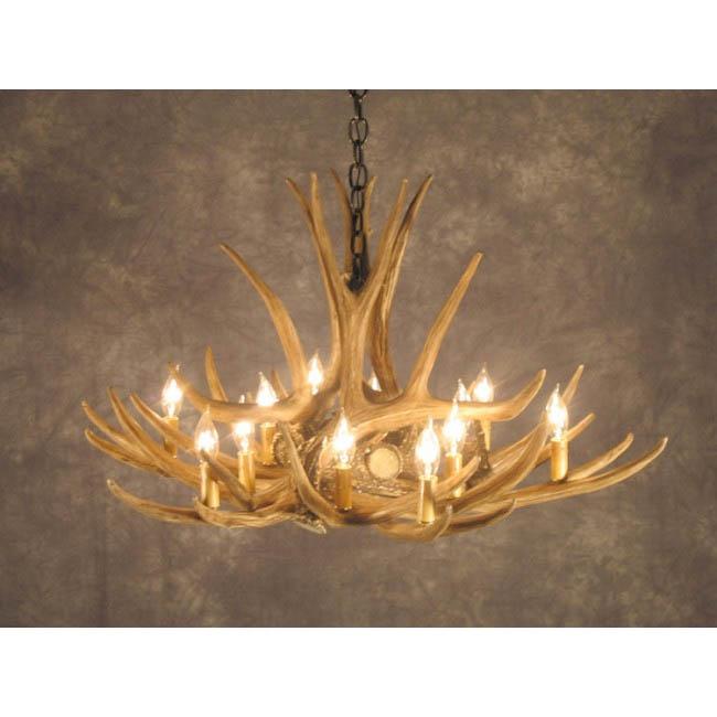 Mule deer antler chandelier 9 antler chandeliers mule deer antler chandelier mozeypictures Images