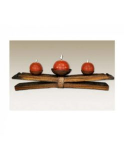 Tequila Barrel Double Stave Table Candle Holder