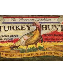 Turkey Hunt Custom Vintage Sign