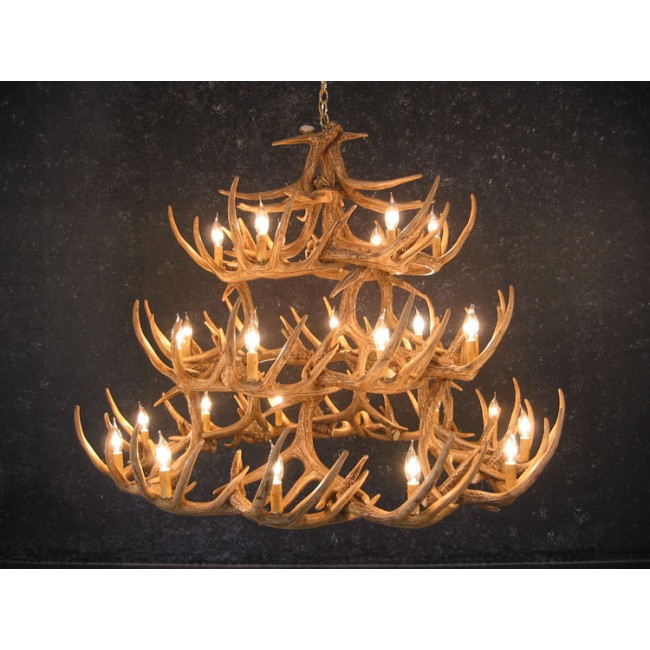Whitetail 42 Antler Chandelier