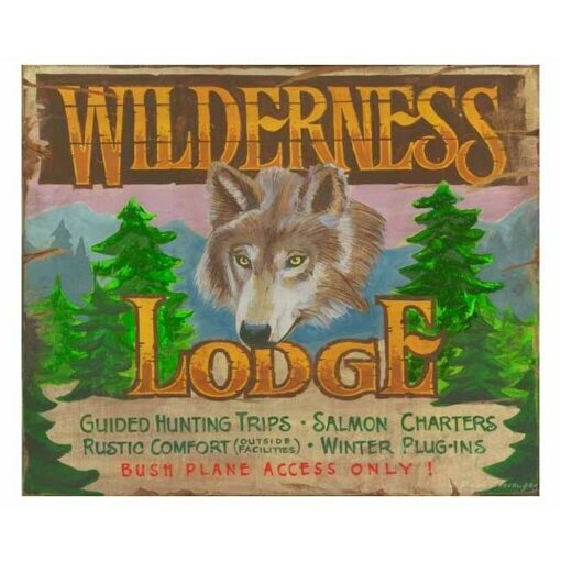 Custom Wilderness Lodge Vintage Sign
