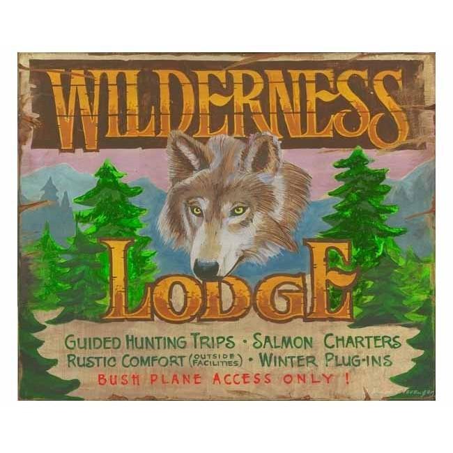 Custom Vintage Lodge Signs