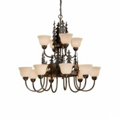12L Chandelier Burnished Bronze - Deer