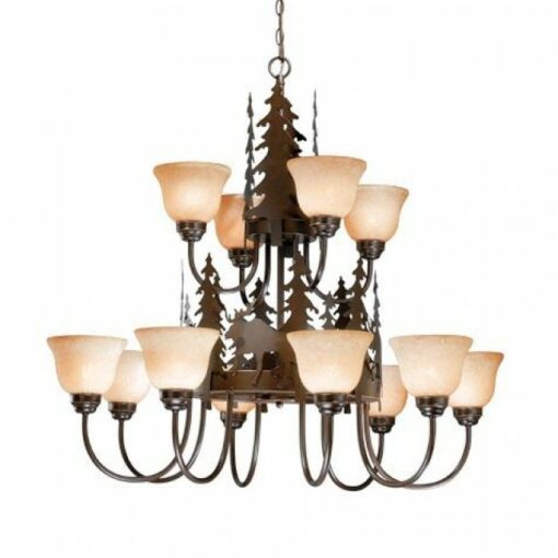12L Chandelier Burnished Bronze - Moose