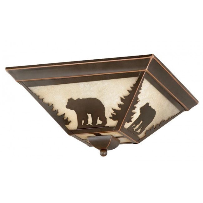 "Bozeman 14"" Flushmount Burnished Bronze Ceiling Light"
