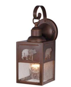 Bozeman 5 Outdoor Wall Light Burnished Bronze Bear