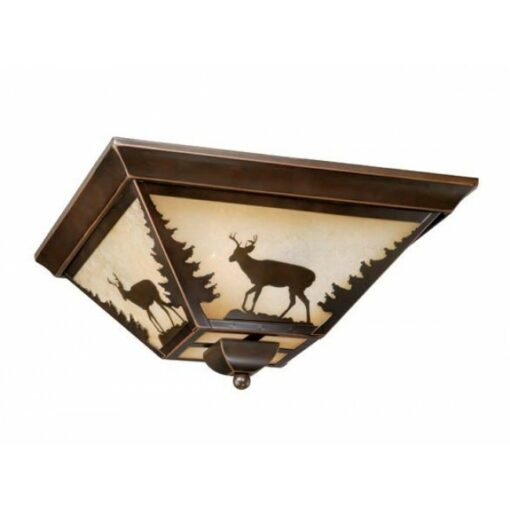 "Bryce 14"" Flushmount Burnished Bronze Ceiling Light"