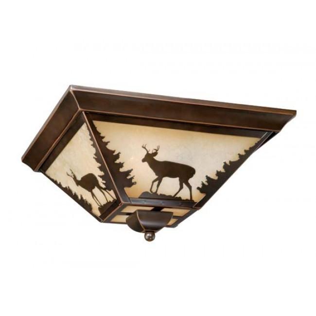 "Bryce 14"" Flushmount Burnished Bronze Ceiling Light"