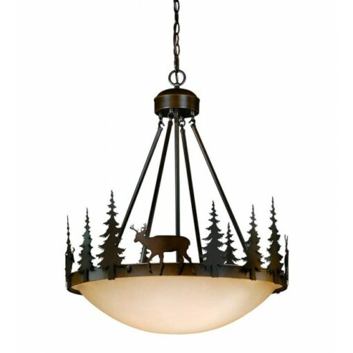"Bryce 24"" Pendant Burnished Bronze - Deer"