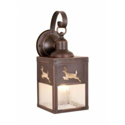 Bryce 5 Outdoor Wall Light Burnished Bronze Deer