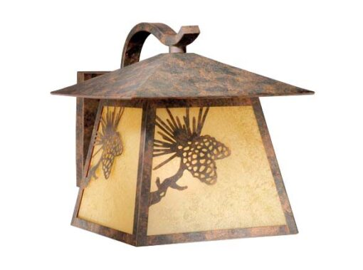 Whitebark 11″ Outdoor Wall Light Olde World Patina