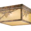 Whitebark 11-1/2″ Outdoor Flushmount Olde World Patina