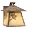 Whitebark 7″ Outdoor Wall Light Olde World Patina