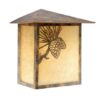 Whitebark 9″ Outdoor Sconce Olde World Patina