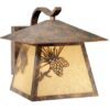 Whitebark 9″ Outdoor Wall Light Olde World Patina