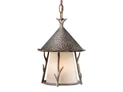 Woodland 9″ Outdoor Pendant Autumn Patina