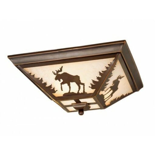 "Yellowstone 14"" Flushmount Burnished Bronze Ceiling Light"