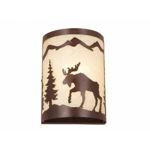 "Yellowstone 8"" Wall Sconce Burnished Bronze - Moose"