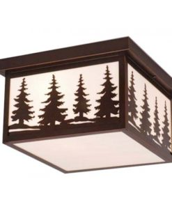 "Yosemite 12"" Outdoor Ceiling Light Burnished Bronze"