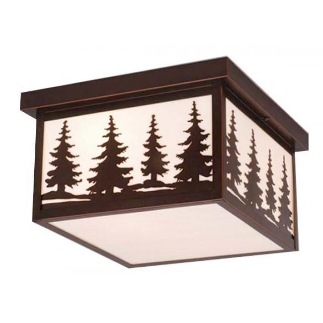 "Yosemite 12"" Outdoor Ceiling Light Burnished Bronze"