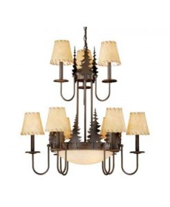 Yosemite 12L Chandelier Burnished Bronze Trees