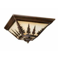 """Yosemite 14"""" Flushmount Burnished Bronze Ceiling Light"""