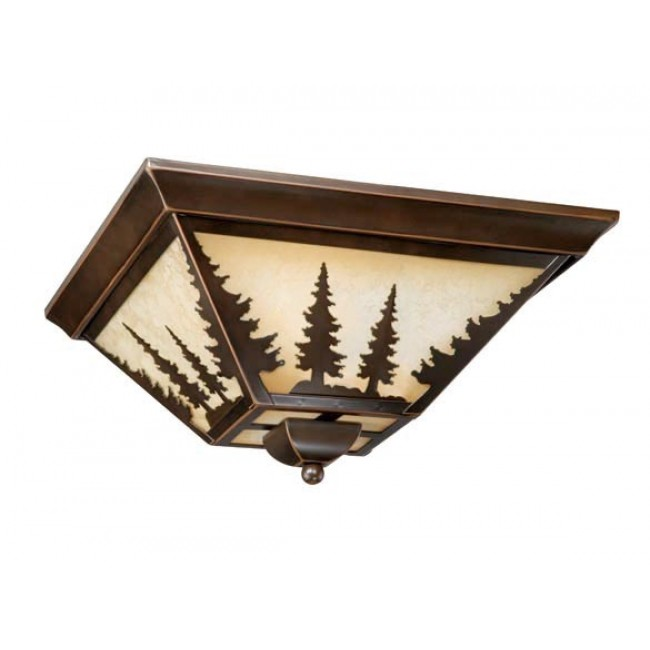 "Yosemite 14"" Flushmount Burnished Bronze Ceiling Light"
