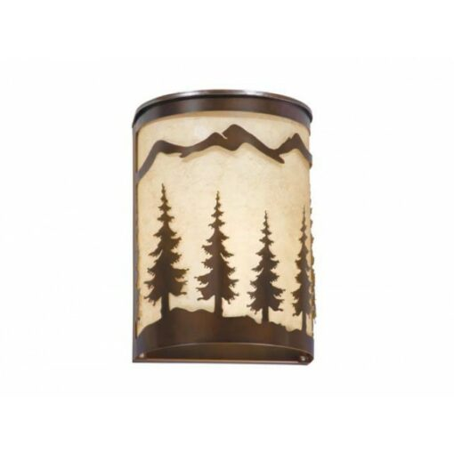 "Yosemite 8"" Wall Sconce Burnished Bronze - Trees"