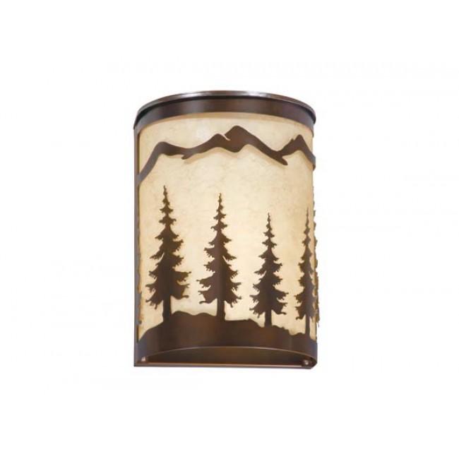 "Yosemite 8"" Wall Sconce Burnished Bronze - Trees"
