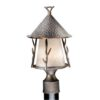 "Woodland 9"" Outdoor Post Light Autumn Patina"