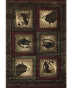 Bears & Wolf Cabin Rug
