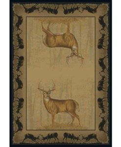 Believe Deer Cabin Rug