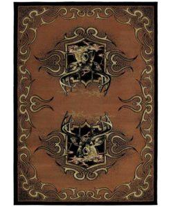 Buckwild Terracotta Cabin Rug