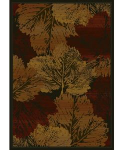 Fall Canvas Cabin Rug - Burgundy