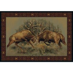 Fight for Dominance Cabin Rug